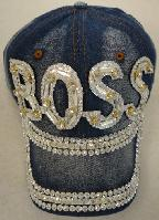 Denim Hat with Bling *Silver [BOSS]